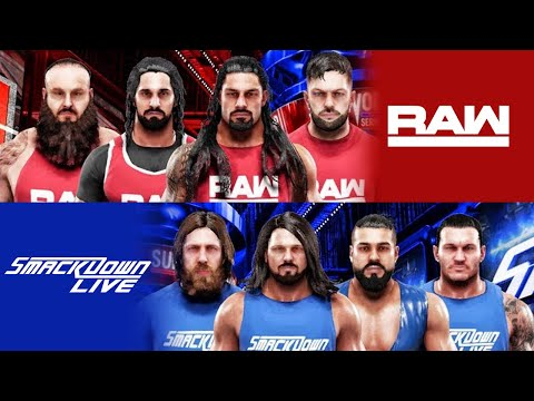 RAW vs SMACKDOWN Survivor Series 2018 Highlights - WWE 2K19