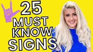 25 Basic ASL Signs for Beginners (the MOST important)