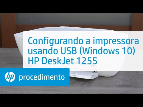 Configuração da impressora HP DeskJet 1255 série usando USB em dispositivo habilitado para Windows 10