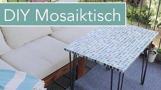 DIY Mosaiktisch mit Hairpin Legs für den Balkon