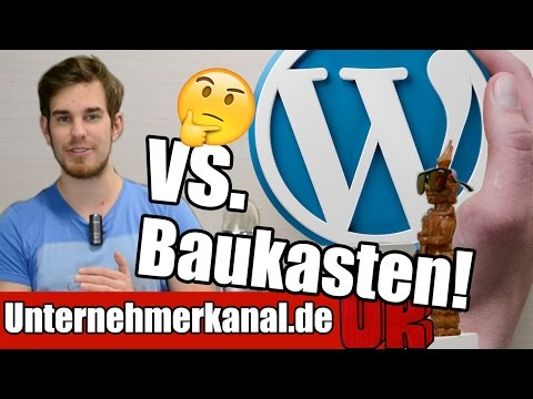 Webseite erstellen - Wordpress oder Homepage Baukasten? Vor und Nachteile auf Deutsch (Tutorial)
