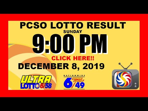 [ LIVE!! ] - LOTTO RESULT TODAY  (PCSO) [9pm] (December 8, 2019 Sunday) Swertres, 3D | Ez2, 2D | STL