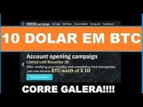 Receba 10 dolares em bitcoin gratis direto pra sua carteira corre