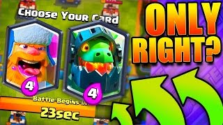 ONLY RIGHT CARDS?! Clash Royale Crown Duel!