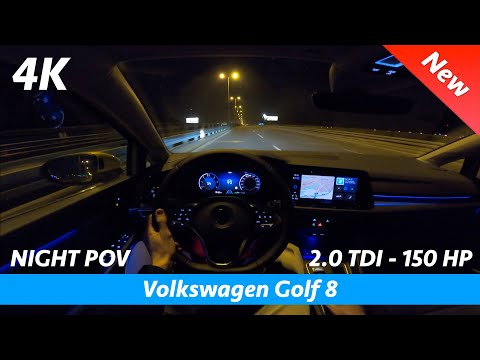 Volkswagen Golf 8 2020 - Night POV test drive and FULL review in 4K | LED Matrix Headlights, 0 - 100
