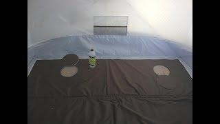 Тёплый пол для зимней палатки
