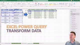 Microsoft Excel Power Query Cleaning Nested Data with Conditional Columns and Fill Command