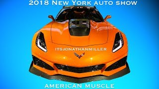 New YouTube Video. 2018 NY auto show American muscle