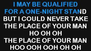 SC3150 01   Knight, Jordan   I Could Never Take The Place Of Your Man [karaoke]