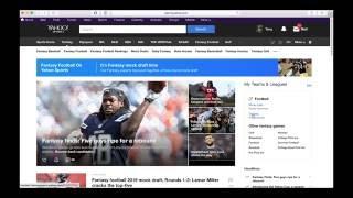 Editing Team Settings in Yahoo! Fantasy Football