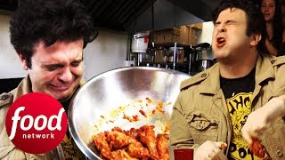 Adam Retakes Spicy Challenge That Took Him Out After One Bite!   Man v Food