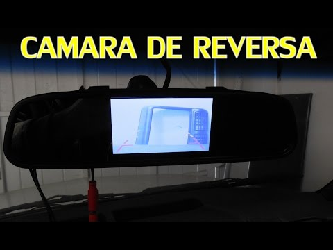 COMO CONECTAR CAMARA DE REVERSA (practica y diagrama)