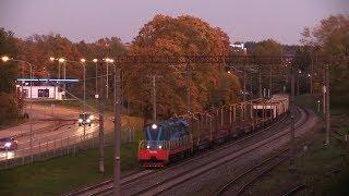 Тепловоз ЧМЭ3-5371 с рабочим поездом / CME3-5371 with maintenance train