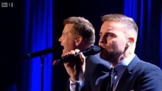 <b>Gary Barlow</b> & James Corden  Pray  Manchester Apollo