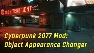 Cyberpunk 2077 Mod - Object Appearance Changer