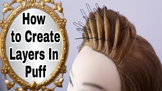 How To Create Layers In Puff || KAshees Hairstyles || Asian Wedding Hairstyles