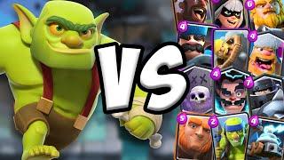 Video Goblin Cage GAMEPLAY vs All Cards   Clash Royale MP3, 3GP, MP4, WEBM, AVI, FLV September 2019