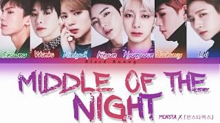 MONSTA X (몬스타엑스)   Middle Of The Night (Color Coded Lyrics Eng)