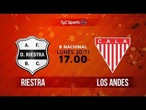 Primera B Nacional: Deportivo Riestra vs. Los Andes | #BNacionalenTyC