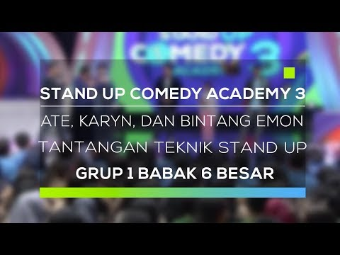 Stand Up Comedy Academy 3 : Ate, Karyn, dan Bintang Emon - Tantangan Teknik Stand Up