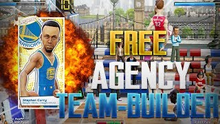 NBA Playgrounds Free Agency Team-Builder | Pulling A Legend Steph Curry!!!