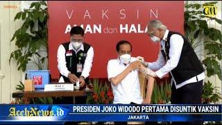 VIDEO - Disuntik Vaksin Corona, Begini Reaksi Jokowi & Raffi Ahmad