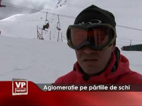 Aglomeraţie pe pârtiile de schi