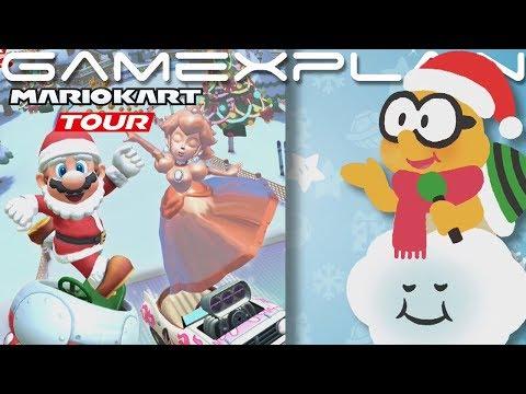 Pink Gold Peach & Santa Mario Coming to Mario Kart Tour! (Winter Tour Update Coming Tomorrow!)