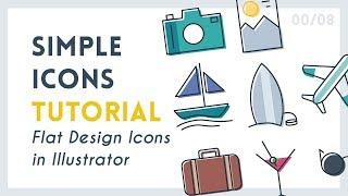 Create Simple Icons   Illustrator Tutorial