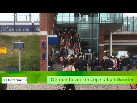 VIDEO | Ongedwongen sfeer en vlotte doorstroom Defqon.1-bezoekers op station Dronten