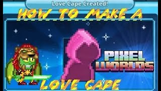 🔴🔵Pixel Worlds — How To Make A LOVE CAPE? Ms.Valentine's REVENGE!🔵🔴