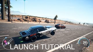 NEED FOR SPEED PAYBACK DRAG LAUNCH TUTORIAL!