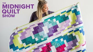 Angelas Modern Bargello Quilt + GIVEAWAY | Midnight Quilt Show With Angela Walters