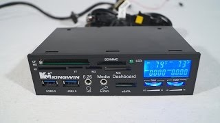#1540 - Kingwin FPX-004 Multi Function LCD Fan Controller I/O Panel