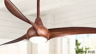 Minka Aire Light Wave Distressed Koa Ceiling Fan