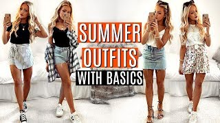 SUMMER OUTFITS WITH BASICS! ☀️ Casual Outfit Ideas!