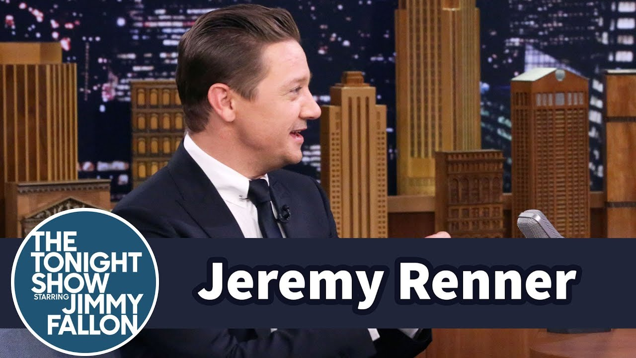 Jeremy Renner Chucked Doughnuts at Ed Helms After Breaking Both Arms thumbnail