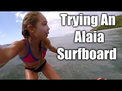 Trying Alaia Wood Surfboard First Time