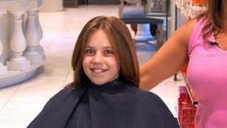 Kids Long, Layered Haircut