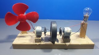 How To Make Free Energy Light Bulb Generator With Magnets And Dc Motor   Science Projects