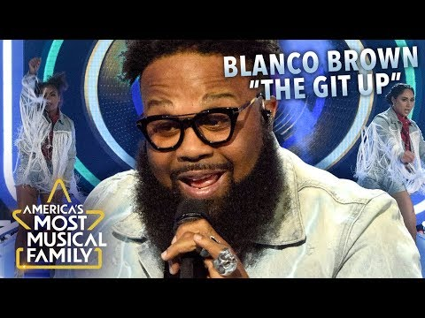 "Blanco Brown Performs ""The Git Up"" Live on America's Most Musical Family"