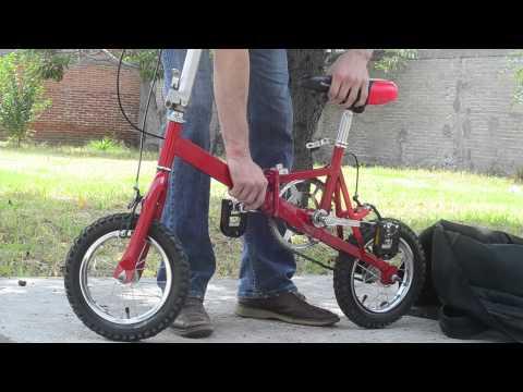 Bicicleta Plegable - Como usarla... DE VENTA SOLO EN MEXICO