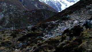 preview picture of video 'Kyanjin valley early in the morning, Langtang trek, Nepal'