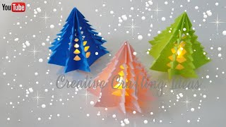 Christmas Tree With Paper   3D Paper Christmas Tree   DIY Christmas Tree