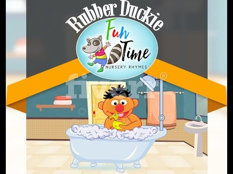 Rubber Duckie Animation with Ernie and with Lyrics