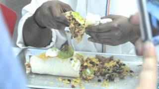 Man vs. Food - 3 lb. Burrito. Chartwells at Queens College