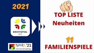 Brettspiel Neuheiten Herbst 2021   | SPIEL 21  TOP 11 Familienspiele   Brettspielbox