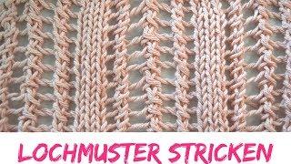 Einfaches Lochmuster stricken | Strickmuster #62