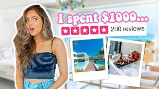 i stayed at the BEST RATED HOTEL in my city... (i spent $1000)