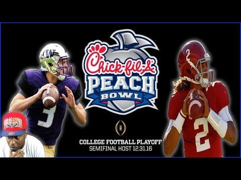 CFB PLAYOFF!!! PEACH BOWL - WASHINGTON VS ALABAMA!!! NCAA FOOTBALL 14 GAMEPLAY
